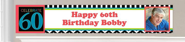 Custom 60th Birthday Banners