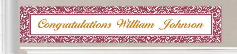 Custom Berry Wedding Banners