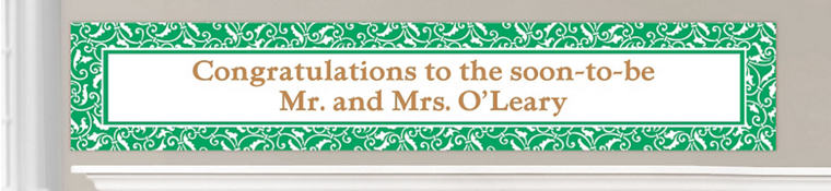 Custom Festive Green Wedding Banners