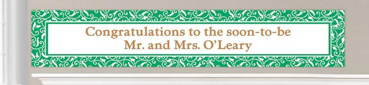 Custom Festive Green Wedding Banners