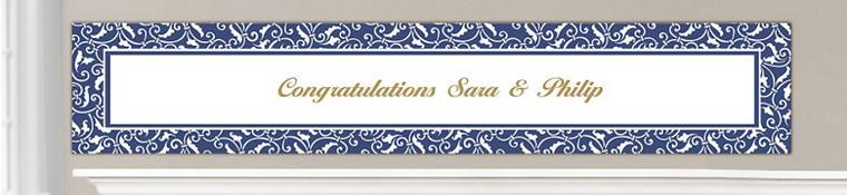 Custom Royal Blue Wedding Banners