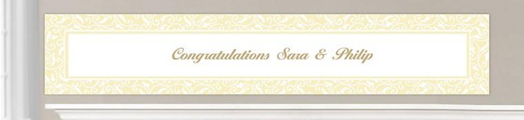 Custom Vanilla Wedding Banners