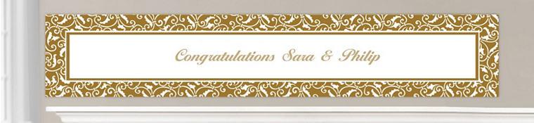 Custom Gold Wedding Banners