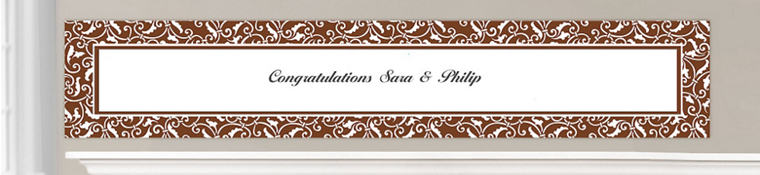 Custom Chocolate Brown Wedding Banners