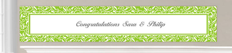 Custom Kiwi Green Wedding Banners