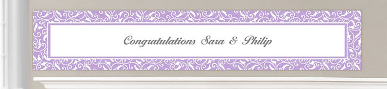 Custom Lavender Wedding Banners