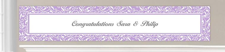 Custom Lavender Wedding Banners