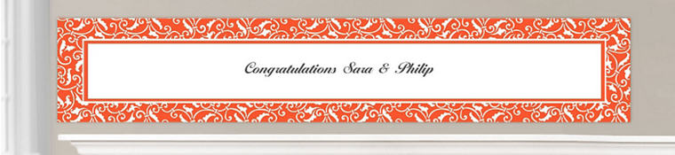 Custom Orange Wedding Banners