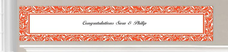 Custom Orange Wedding Banners