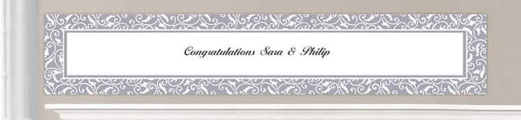 Custom Silver Wedding Banners