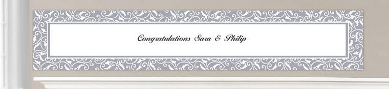 Custom Silver Wedding Banners