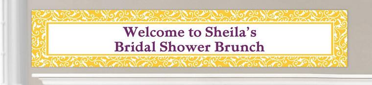 Custom Yellow Wedding Banners