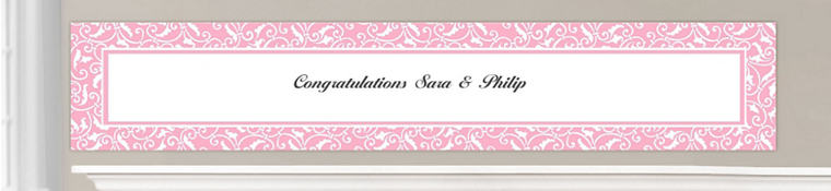 Custom Light Pink Wedding Banners