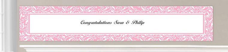 Custom Light Pink Wedding Banners