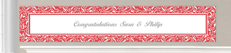 Custom Red Wedding Banners