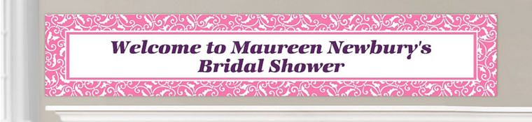 Custom Bright Pink Wedding Banners