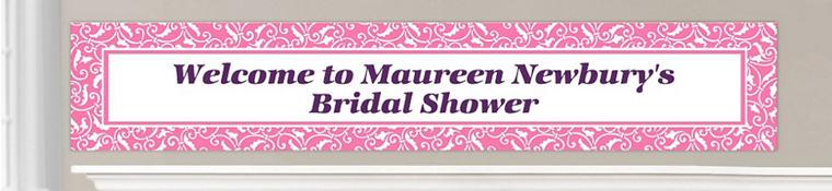 Custom Bright Pink Wedding Banners