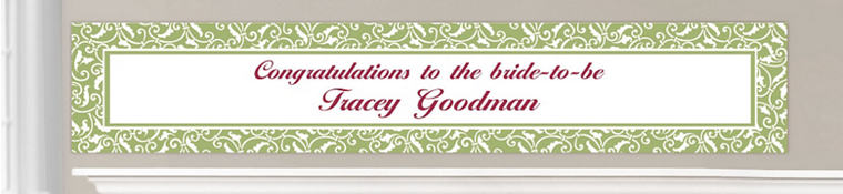 Custom Leaf Green Wedding Banners