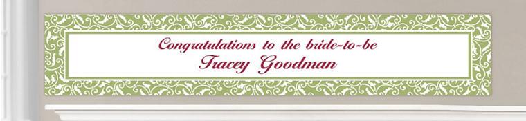 Custom Leaf Green Wedding Banners