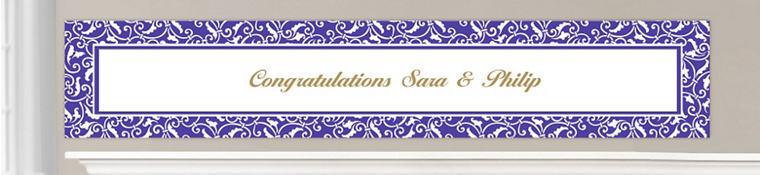 Custom Purple Wedding Banners