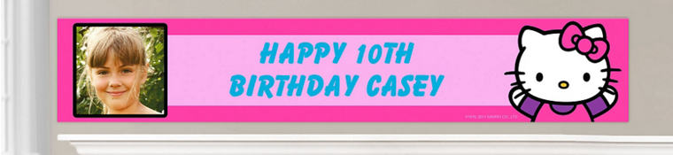 Custom Rainbow Hello Kitty Birthday Banners