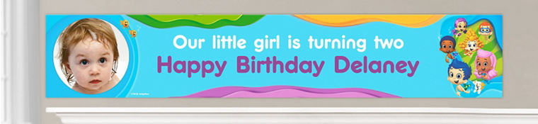 Custom Bubble Guppies Birthday Banners