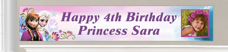 Custom Frozen Birthday Banners