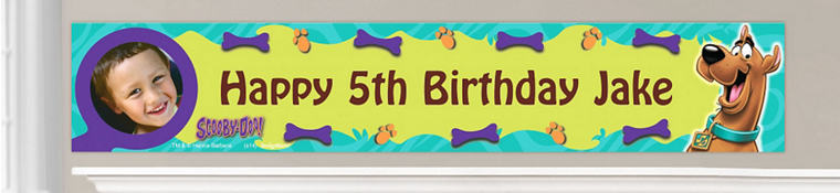 Custom Scooby-Doo Birthday Banners
