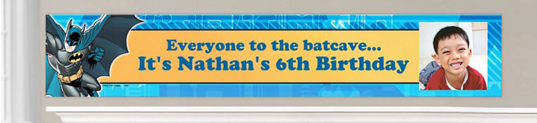 Custom Batman Birthday Banners