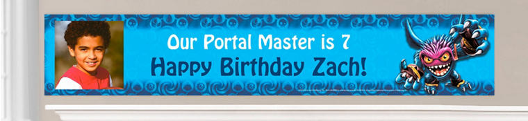 Custom Skylanders Birthday Banners