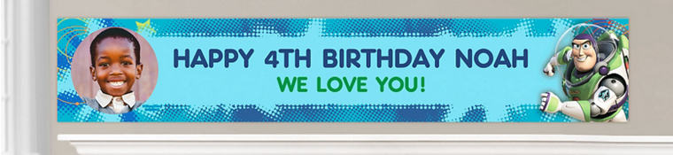 Custom Toy Story Birthday Banners