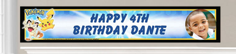 Custom Pokemon Birthday Banners