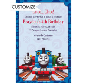 Thomas the train invitation orderecigsjuicefo thomas the train birthday invitations gangcraft wedding invitations filmwisefo Gallery