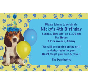 custom invitations banners - Dog Party Invitations
