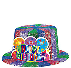 Sparkle Birthday Top Hat