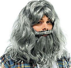 Deluxe Silver Old Man Wig and Beard