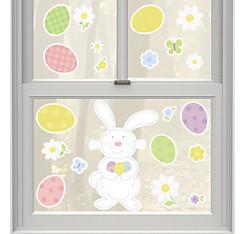 Vinyl Easter Bunny Window Decals 20ct