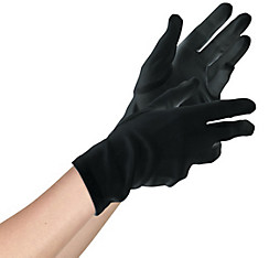 Womens Short Black Gloves