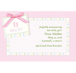 Baby Soft Pink Custom Birth Announcements