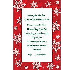 Elegant Red Custom Christmas Invitation