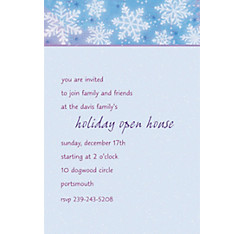 Snowy Breeze Custom Christmas Invitation