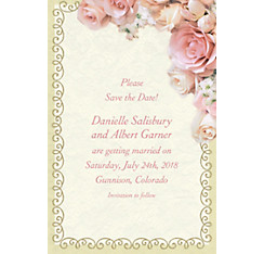 Dazzling Bouquet Custom Bridal Shower Invitation