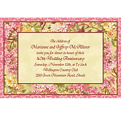 Tapestry Blossom Custom Invitation