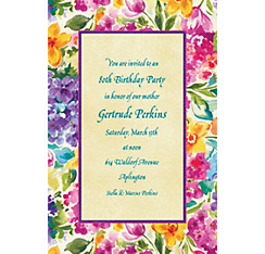 Floral Impressions Custom Invitation