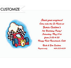 Formula 1 Racecar Custom Invitation