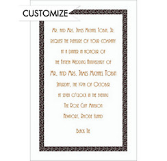 Narrow Black Texture Custom Invitation