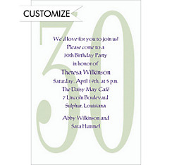 Big 30 Custom Invitation