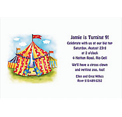 Circus Tent Custom Invitation