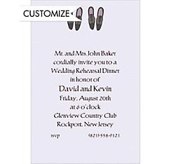 Groom and Groom Shoes Custom Wedding Invitation