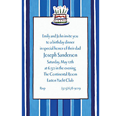 Handsome Cake Custom Invitation